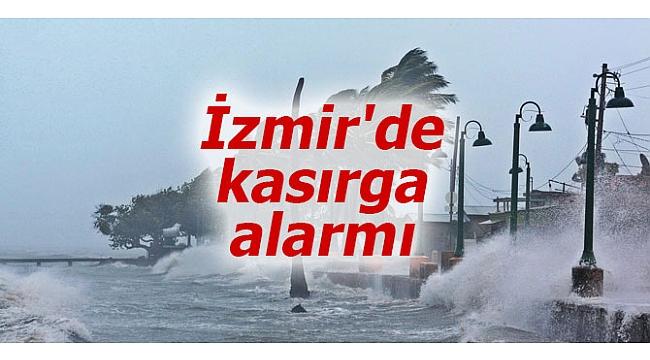 İzmir'de kasırga alarmı