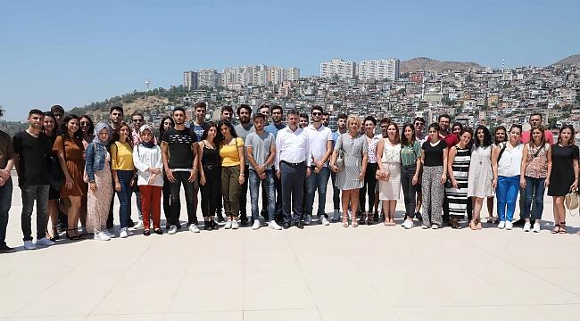 Başkan Sandal'a BAYSEM öğrencilerinden ziyaret