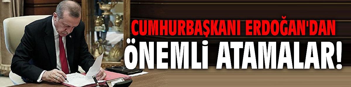Cumhurbaşkanı Erdoğan'danönemli atamalar! Resmi Gazete'de yayımlandı