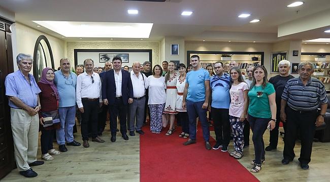 Göçmen sanatçılar, Başkan Kılıç'ı ziyaret etti
