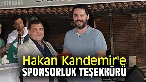 Hakan Kandemir'e sponsorluk teşekkürü