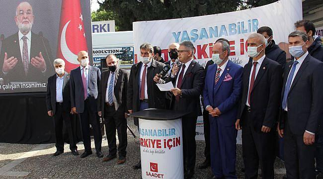 Saadet Partisi İzmirli'lere ülke sorunlarını anlatacak