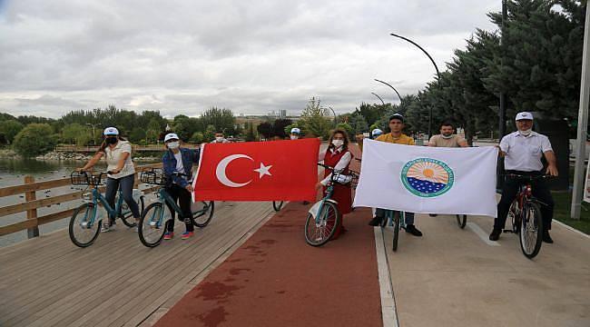 Başkan Şimşek'ten Bisiklet Sürme Çağrısı
